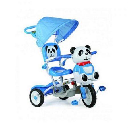 Pandás zenélő szülőkormányos tricikli