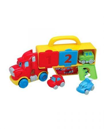 Chipolino zenélő játék teherautó
