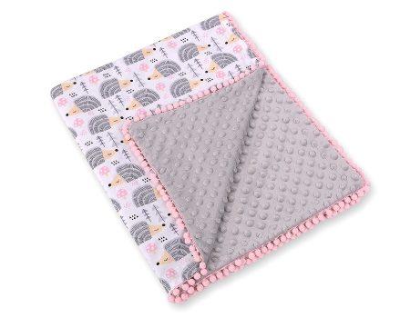 Baby Lion Premium két oldalú Minky takaró - lányos