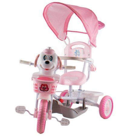 Kutyás zenélő szülőkormányos tricikli