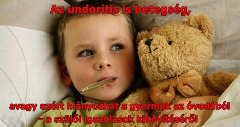 Az undoritis is betegség, avagy ezért hiányozhat a gyermek az óvodából – a szülői igazolások kibővítéséről