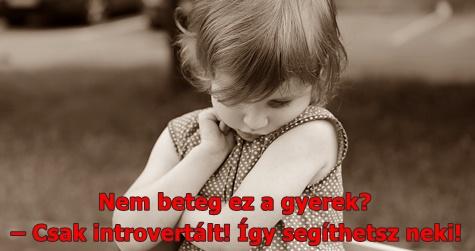 Nem beteg ez a gyerek? – Csak introvertált! Így segíthetsz neki!