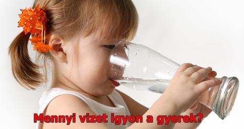 Mennyi vizet igyon a gyerek? Tények és tévhitek a vízivásról