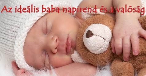 Az ideális baba napirend és a valóság