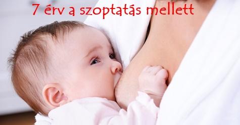 7 érv a szoptatás mellett
