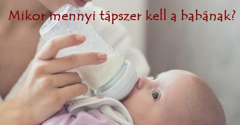 Mikor mennyi tápszer kell a babának?