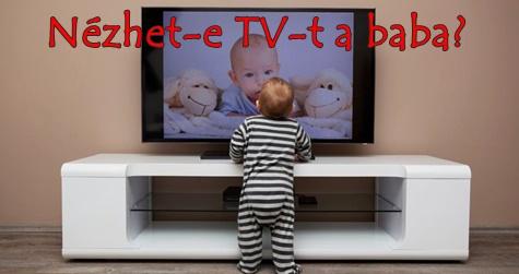 Nézhet-e TV-t a baba?